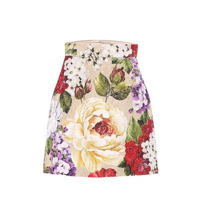 Floral Brocade Pencil Skirt - Dolce & Gabbana | Mytheresa