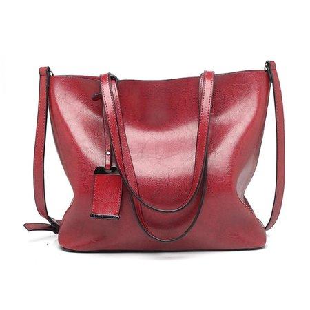 Women's bag new large-capacity fashion tote bag retro leather Europe and America shoulder bag handbag large bag