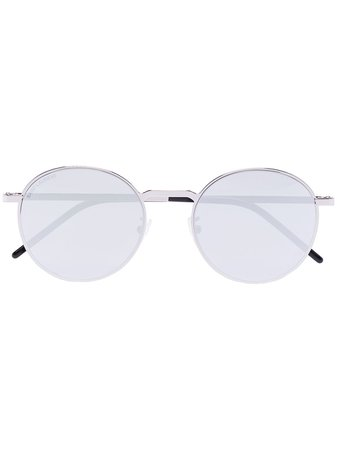 Saint Laurent Eyewear Round Tinted Sunglasses - Farfetch