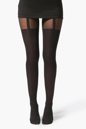 Mock Suspender Tights | Boohoo