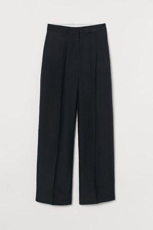 Dressy Silk-blend Pants - Black