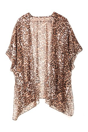 Accessory Street | Leopard Print Single Layer Cover-Up | Nordstrom Rack