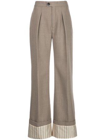 Chloé Printed Hem Tailored Trousers - Farfetch
