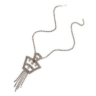 Vintage Art Deco Rhinestone Statement Necklace - Vintage Meet Modern