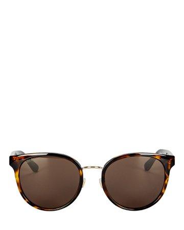 Gucci Round Sylvie Web Sunglasses | INTERMIX®