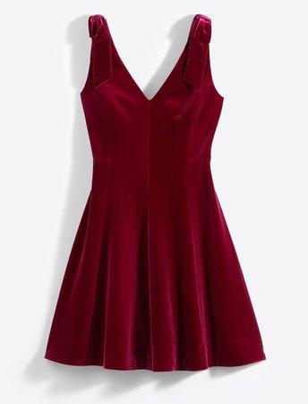 Velvet Bow Shoulder Dress – Draper James