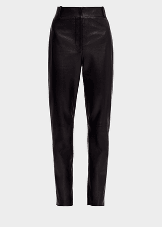 Versace High-waisted Leather Pants