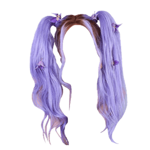 Purple Twin Ponytails Hair PNG