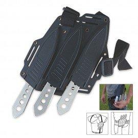 Shoulder Harness Throwing Knife Triple Set