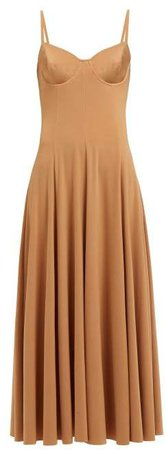 Underwired Midi Dress - Womens - Tan