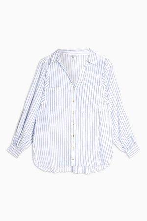 Blue Stripe Casual Shirt | Topshop