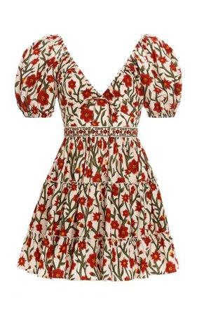 Manzanilla Floral Cotton Poplin Mini Dress By Agua By Agua Bendita | Moda Operandi