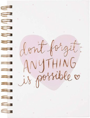 Amazon.com : Dayna Lee Collection 6x8 Wirebound Hard Cover Notebook, 200 Pages, Acid-free Lined Sheets, Anything Is Possible : Gateway