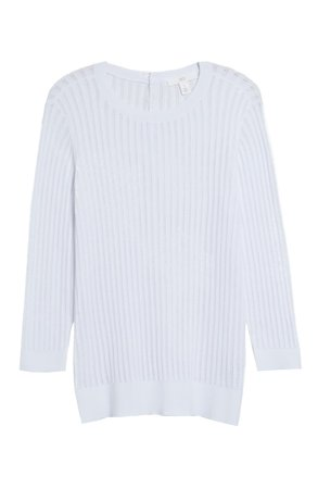 1901 Button Back Pointelle Sweater | Nordstrom