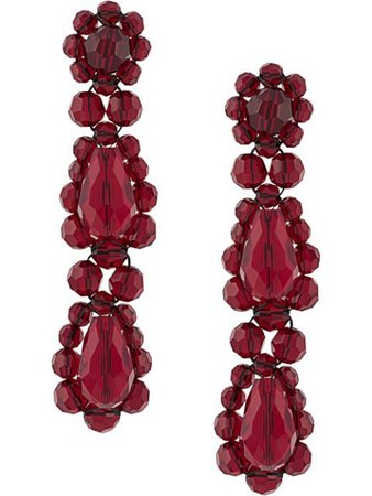 Simone Rocha Beaded Drop Earrings - Farfetch