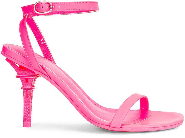 Eiffel Tower Sandals in Fluo Pink | FWRD