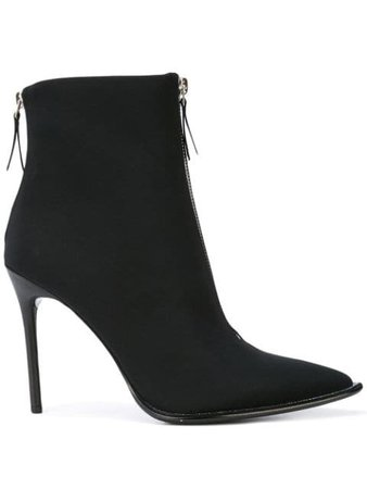 Black Alexander Wang zip front ankle boots - Farfetch