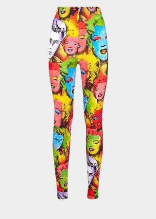Versace Pop Art Print Leggings for Women