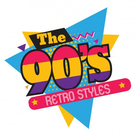 The 90s Retro Styles Text