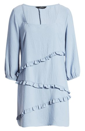 Speechless Ruffle Square Neck Minidress | Nordstrom