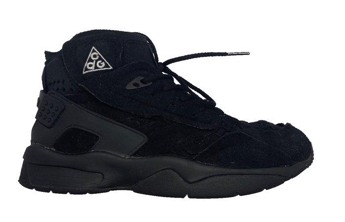 CDG x nike   black boots