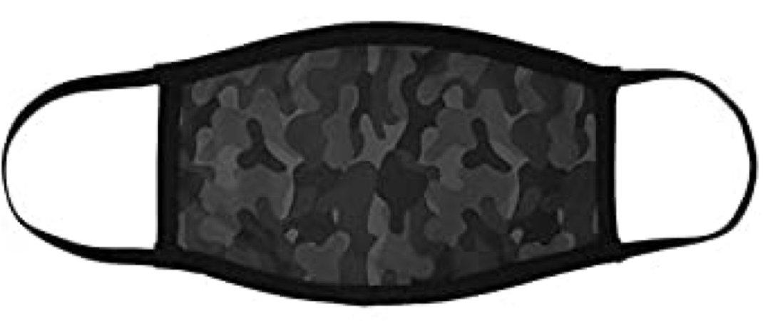 black camouflage face mask