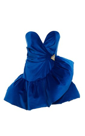 Ruffled Velvet Mini Dress by Attico | Moda Operandi