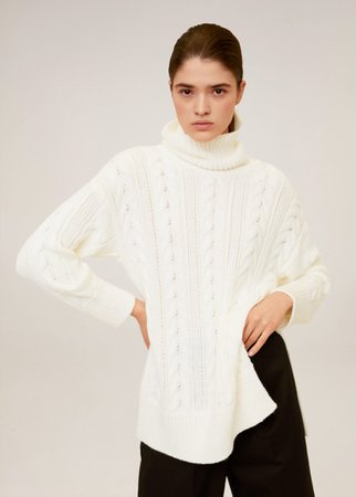 Cable-knit sweater - Women | Mango USA