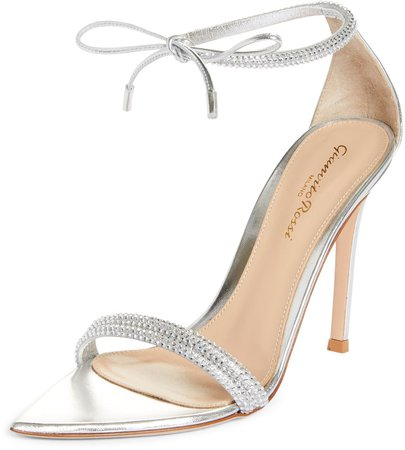 Ankle Wrap Crystal Sandal