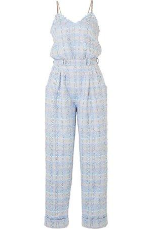 Balmain   Metallic tweed jumpsuit   NET-A-PORTER.COM
