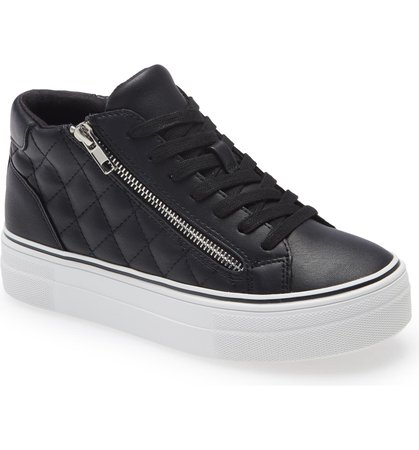 Steve Madden Gryphon Quilted Faux Leather High Top Sneaker (Women) | Nordstrom
