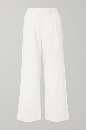 Ryan Linen Wide-leg Pants - White