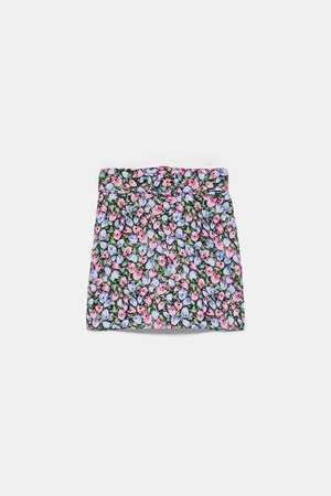FLORAL PRINTED SKIRT - View All-SKIRTS-WOMAN   ZARA United States