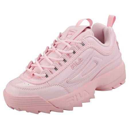 FILA DISRUPTOR 2 Premium Patent Womens Pink Synthetic Fashion Trainers - £85.00 | PicClick UK