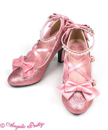 Party Glitter Shoes (S) - Pink [182SH04-190019-pkS] - $174.00 : Angelic Pretty USA