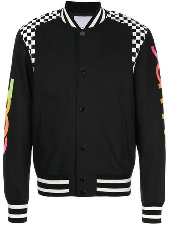 Ports V Cool Summer Checkered Panel Bomber Jacket - Farfetch