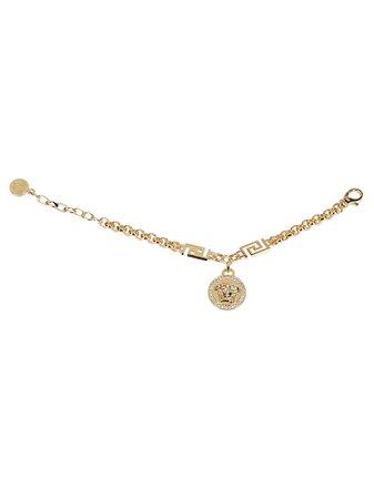 Gold-tone Steel Medusa Bracelet