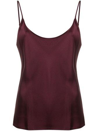 La Perla Scoop Neck Vest 0020289 Red | Farfetch