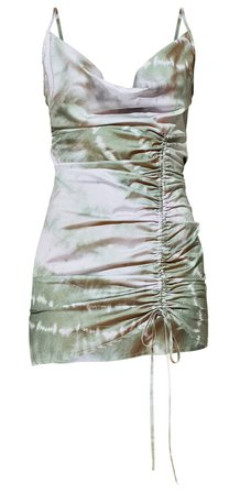 sage green tie dye dress