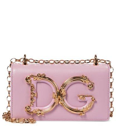 Dolce & Gabbana - DG Girls Small leather shoulder bag | Mytheresa