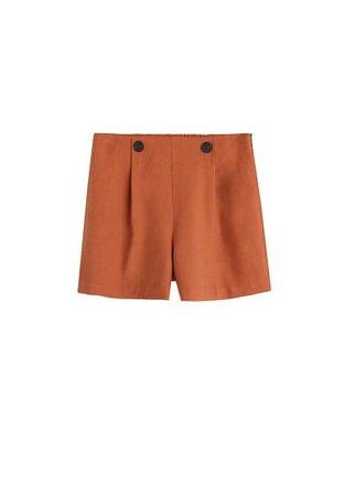 MANGO Buttoned high-waist shorts