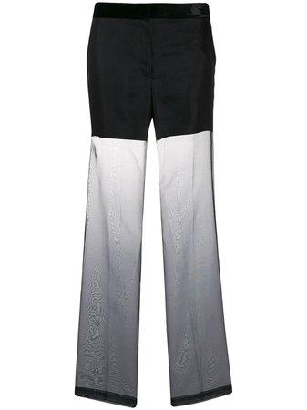 Helmut Lang Straight Leg Organza Trousers | Farfetch.com