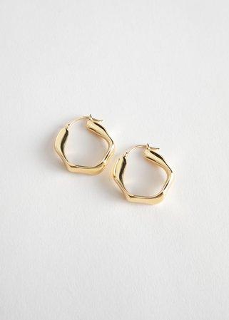 Wavy Hoop Earrings - Gold - Hoops - & Other Stories US