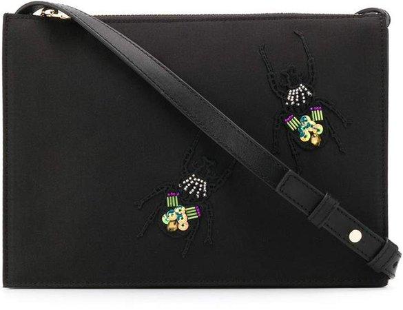 crystal embellished shoulder bag
