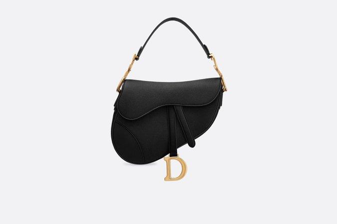 black Dior saddle bag