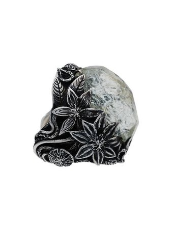 Lyly Erlandsson silver and grey resin Winter ring