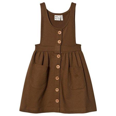 MAINIO Brown Barn Dance Pinafore Dress | AlexandAlexa