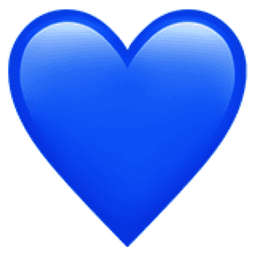 blue emoji heart iphone - Google Search