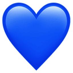 blue emoji heart iphone - Google Search