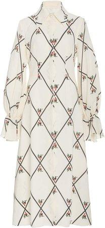 Emilia Wickstead Elsia Printed Silk Dress